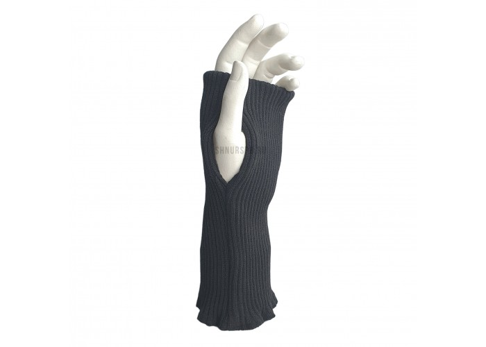 Трикотажный манжет с проймой для большого пальца усиленный
